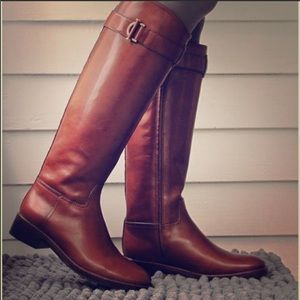 {TORY BURCH} Grace Siena Leather Riding Boots